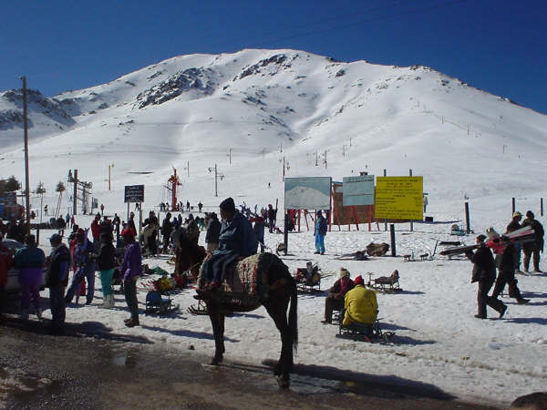 Oukaïmeden ski map, Morocco, Africa