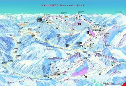 Vallnord ski map Andorra Europe