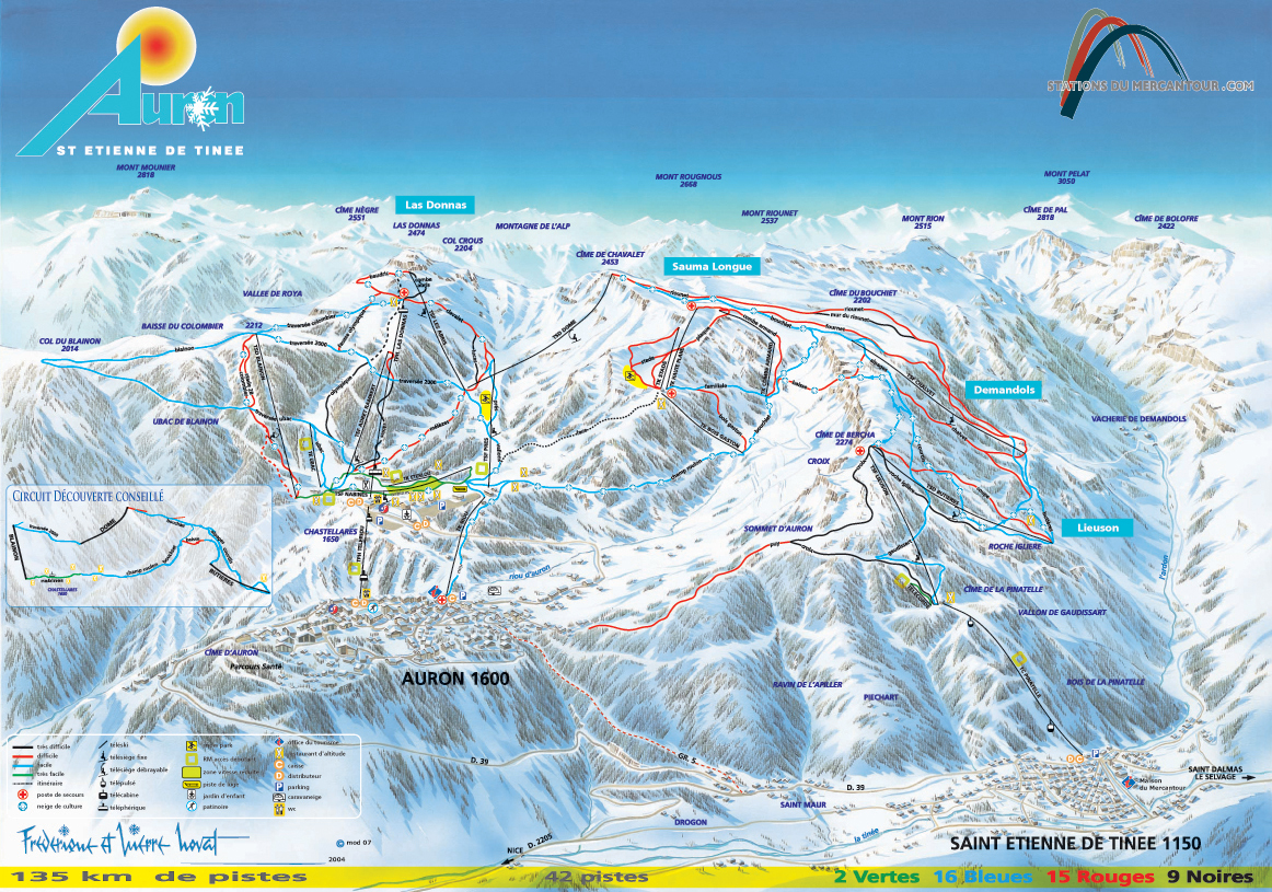 Map Of France 1600.Auron Ski Map France Europe