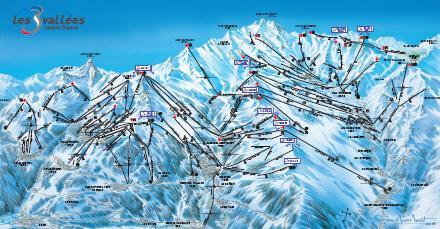 Les Trois Valles Val Thorens Les Menuires Meribel Courchevel