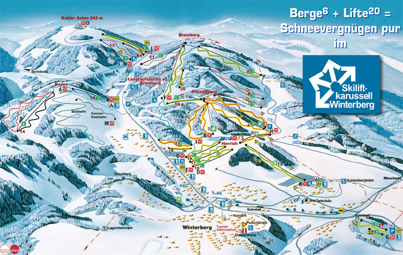 Winterberg Germany  City new picture : Winterberg ski map, Germany, Europe