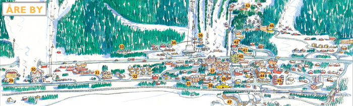 kart over åre Åre ski map, Sweden, Europe kart over åre
